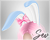 *S Bunny Maid Ears Pink
