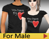 Couple Tee LOVE - Male