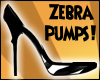 Black Zebra Pumps