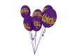 purple bithrday balloons