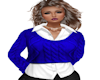 Royal Blue Cable Sweater