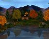 Fall Log Cabin LakeSide