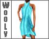 Wrap dress tuequise