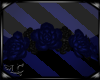 Dark Blue Rose Headdress