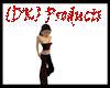 {DK} Red-N-Black Pants