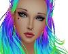 Eyebrows purple N green