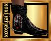 [L] BADASS Red Boots M