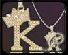R| K Necklace gold Dm
