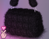 e fuzzy bag - blaq