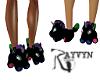 Black Unicorn Slippers