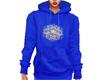 Blue Snowflake Hoodie