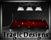 -A- Goth Pool Table Red