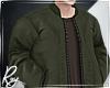 Olive Bomber +brwn Shirt