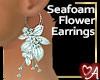 .a Seafoam Flowr Earring