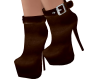 Evie Suede Boots Brown