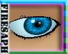 [F] bright blue male eye