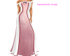 pink and white gown