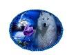 Blue Wolf Rug