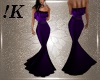 !K! Purple Fishtail Gown