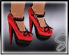 [Sev] Bow Heels Red