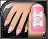 m.. Bow Pink Nails