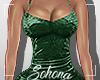 ṩ Velvet Dress Green L