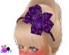 purple hair bow