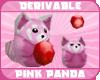 *P* Pink Red Panda Pet