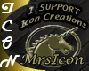 I SUPPORT ICON CREATIONS