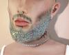 Head + Glitter beard.