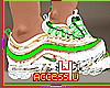 ! Green White Sneakers