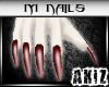 ]Akiz[ LM Red Nails