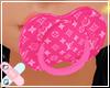 ♚ LV pink paci