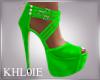 K kim neon green heels