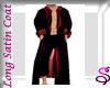 Red Satin Long Trench
