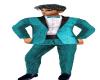 Turquoise Brocade Tuxedo