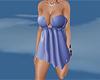 short blue busty dress