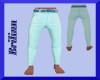 [B] Teal Pants Blue Belt