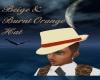 Beige&BurntOrange Hat