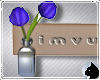 !Flower vase sign blue