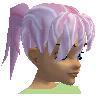 "Pink ""silky"" hair"