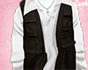 Vest Black White