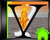! Animated Fire Letter V