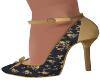Stas-Black/Gold Heels