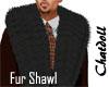 C]Blk Fur Shawl  M