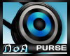 *NoA*Mod PurseBlk/Blue/W
