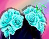 *V* Hair Roses Cyan