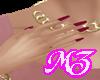 MZ/ Mauve Glitter Nails
