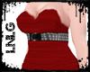 L:BBW Dress-PunkDiva Red