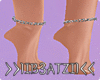 B! Silver Ankle Chains